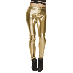 Glans-Legging Goud