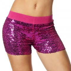 Hotpants pailletten pink