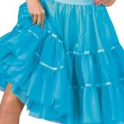 Petticoat 3-Laags Turquoise